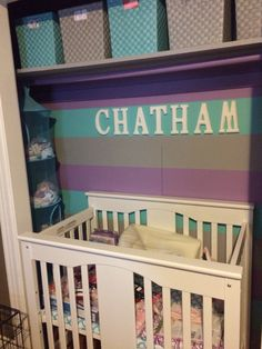 Baby Crib In Closet!