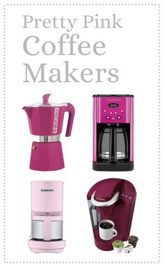 Best pink coffee makers to make all your neighbors jealous