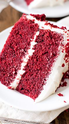 You can't beat a classic like red velvet cake with cream cheese frosting!