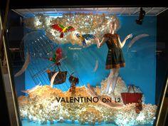 "Harvey Nichols, Hong Kong,""High Above the Blue Skies"", pinned by Ton van der Veer Store Window Displays, Store Windows, Above The Clouds, Harvey Nichols, Retail Design, Visual Merchandising, Store Design, Xmas, Christmas"