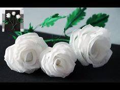 Flowers making. How to Make Rose Tissue Paper. Crepe paper flower making. Julia DIY beauty and easy - YouTube
