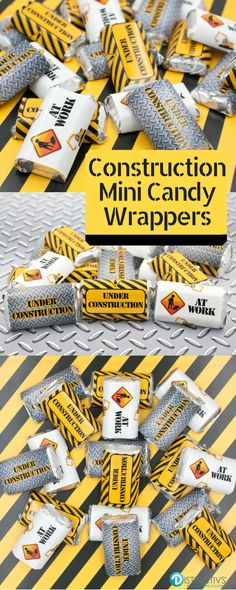 Construct your own Hershey's® miniature bars for a simple and easy party favor!