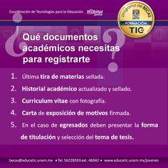Prepara tus documentos para inscribirte en el curso de selección de la #BecaEducaTIC 2016.  Recuerda que la entrega será del 23 de mayo al 3 de junio. De 10:00 a 15:00 horas Para más  información visita nuestro sitio www.educatic.unam.mx/jovenes