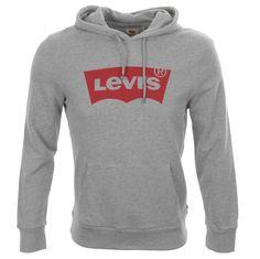 Levis Logo Hoodie Grey