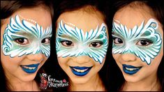 Swirl face paint face mask