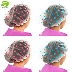 1PC Dot Waterproof Shower Cap Thicken Bath Hat Bathing Cap for Women #clothing,#shoes,#jewelry,#women,#men,#hats,#watches,#belts,#fashion,#style
