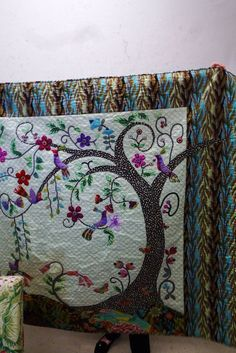 Material Obsession- Love this tree of life quilt going to make one some day.