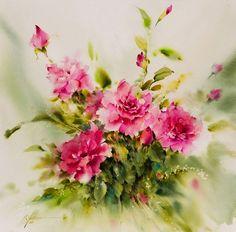И в сердце распускаются цветы: прекрасные акварели Mohammad Yazdchi - Ярмарка Мастеров - ручная работа, handmade