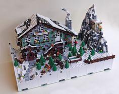 Winter Chalet — BrickNerd - Your place for all things LEGO and the LEGO fan community Lego Christmas Village, Lego Winter Village, Lego Minifigure Display, Lego Display, Casa Lego, Lego Spongebob, Lego Hogwarts, Construction Lego, Lego Pictures