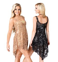 Double Platinum Tank Sequin Lace Overdress