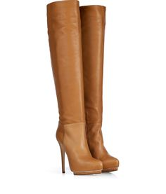 Le Silla, Look more:Caramel Leather Over-the-Knee Boots