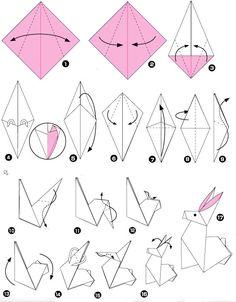 origami konijn1 origami konijn