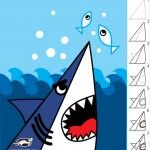 How to draw a shark easy steps an easy how to draw a shark easy steps . how to draw a shark easy Art Drawings For Kids, Drawing For Kids, Easy Drawings, Animal Drawings, Art For Kids, Shark Drawing Easy, Shark Painting, Painting For Kids, Classroom Art Projects
