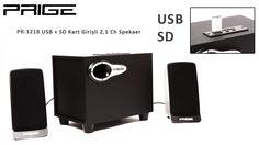 PRIGE PR-1218 2.1 USB+SD Speaker