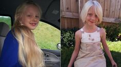 """""""They're calling her a real-life Rapunzel, but this 6-year-old girl's long blond locks aren't trapped in a tower — they're going to help kids with cancer."""""""