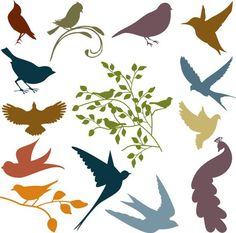 Bird silhouettes- would be nice to use for a tattoo: