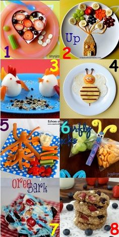 8 Fun Kids Snack Ideas on http://pays2save.com