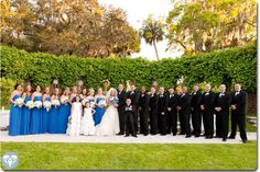 Picture of the wedding party on the at Crane Cottage - Jekyll Island Club