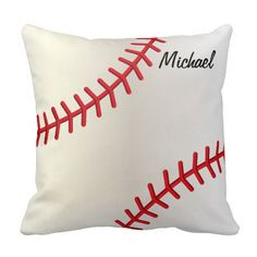 #Baseball Style Throw #Pillow #personalize #zazzlebesties #zazzle.com  #sports #designsbydonnasiggy   over 2500 sports products available in my store. www.zazzle.com/designsbydonnasiggy*