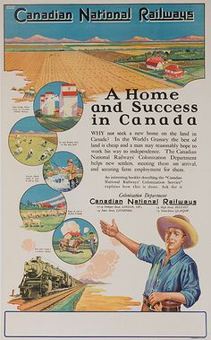 1920s Canadian National Railways vintage travel poster