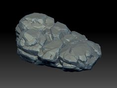 Rock 01, zbrush sculpting