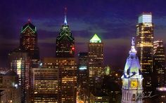 Philly is so beautiful at night