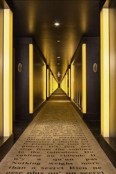 hotel hallway Showing item 41 of room image Hotel Corridor, Hotel Hallway, Lobby Design, Hall Design, Corridor Design, Best Paint Colors, Hotel Interiors, Private Room, Mosaic Wall