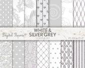 WHITE SILVER GREY Pattern, wedding, summer, invites, scrapbooking, craft, printable sheets,background,texture,wallpaper, birthday