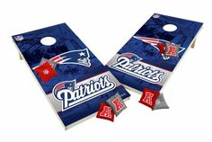 New England Patriots Tailgate Toss XL Shields Edition Cornhole Board & Bean Bag Set