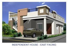 elevations of independent houses साठी इमेज परिणाम House Front Wall Design, House Balcony Design, Single Floor House Design, Village House Design, Kerala House Design, Small House Design, Door Design, Exterior Design, Front Elevation Designs