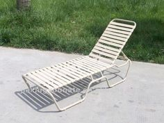 Pvc Strap Outdoor Chaise Lounge Unt-tb-220