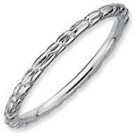 Unique Style Silver Stackable Rhodium Twisted Ring. Sizes 5-10 Available Jewelry Pot. $13.99. 30 Day Money Back Guarantee. Fabulous Promotions and Discounts!. Your item will be shipped the same or next weekday!. All Genuine Diamonds, Gemstones, Materials, and Precious Metals. 100% Satisfaction Guarantee. Questions? Call 866-923-4446. Save 68% Off!