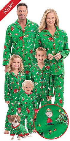 Charlie Brown Christmas PJs for the Whole Family