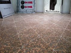 Discover cool tiling projects with the top 60 best penny floor design ideas. Explore industrial and nostalgic copper coin flooring inspiration. Copper Backsplash, Beadboard Backsplash, Herringbone Backsplash, Penny Countertop, Backsplash Cheap, Kitchen Backsplash, Penny Floor Designs, Penny Boden, Pennies From Heaven