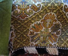 Sumptuous Vtg Tapestry Ecclesiastical Textile Altar Frontal Project