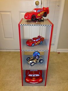 Disney Cars Bedroom Decor New when You Can T Find A Nightstand that Matches A Car themed Room You Do It Yourself Big Boy Bedrooms, Boys Bedroom Decor, Baby Boy Rooms, Bedroom Themes, Bedroom Ideas, Disney Cars Room, Race Car Bedroom, Car Themed Rooms, Deco Originale