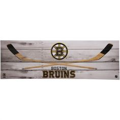 Boston Bruins 10'' x 30'' Hockey Sticks Wall Décor