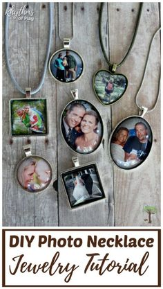 Turn your favorite photographs into a picture necklace! Learn how to make a photo necklace pendant with this beginning photo jewerly making tutorial. Personalized picture necklace charms are an easy craft and homemade gift idea that even kids can make! Cheap Diy Headboard, Diy Headboards, Diy Photo, Photo Craft, Wholesale Gold Jewelry, Picture Necklace, Necklace Tutorial, Jewelry Making Tutorials, Valentines Diy