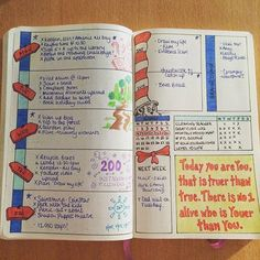 I've absolutely loved filling in the #drseuss themed weekly planner! I'm even a…