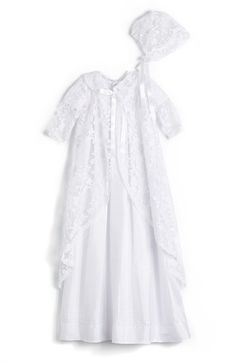 Isabel+Garreton+'Renaissance'+Christening+Gown+&+Bonnet+(Baby)+available+at+#Nordstrom