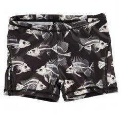 Molo Kids Norton Swimshort Fish Skeleton