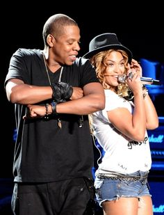 Beyonce & Jay Z. Such a cute couple.. Even though they are the ring leaders if the illuminati  YOURE MESSED UP NO THERE NOT
