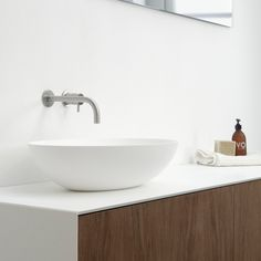 Clay Ellipse - ovale solid surface opzet kom Solid Surface, Basin, Countertops, Bathroom, Home Decor, Full Bath, Washroom, Vanity Tops, Decoration Home