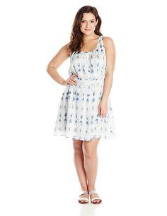BB Dakota Women's Plus-Size Jodan Batik Textured Sleeveless Dress * Amazing product just a click away  : Plus size dresses
