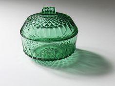 Tarro cristal verde Arcoroc. El Desván de Bartleby C/. Niebla 13. Sevilla 41011