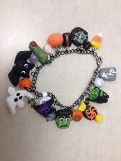 Halloween Polymer Clay Charm Bracelet