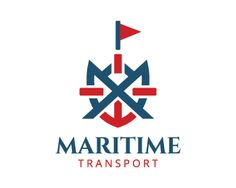 Maritime Transport is an abstract logo in the shape of a ship together with an…
