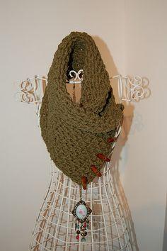 Lattice Neckwarmer free crochet pattern @Af's 15/2/13 crochet