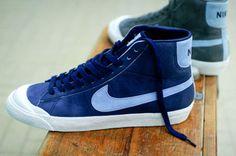 blue Nike hightops