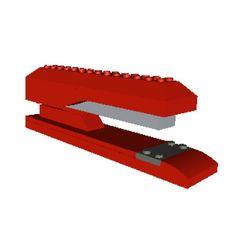Instructions for Custom Designed LEGO Model - Red Stapler - INSTRUCTIONS ONLY. $2.00, via Etsy.
